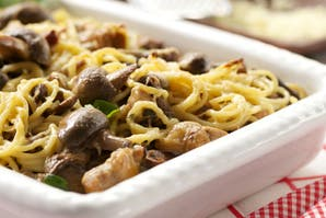 Spaghetti con funghi