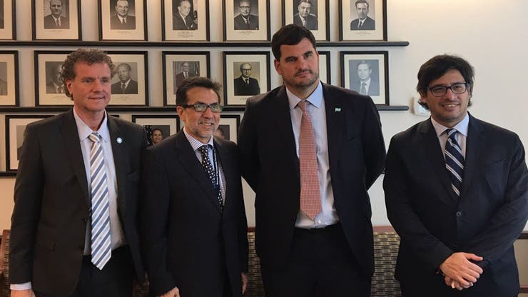 Garavano en su visita a Washington