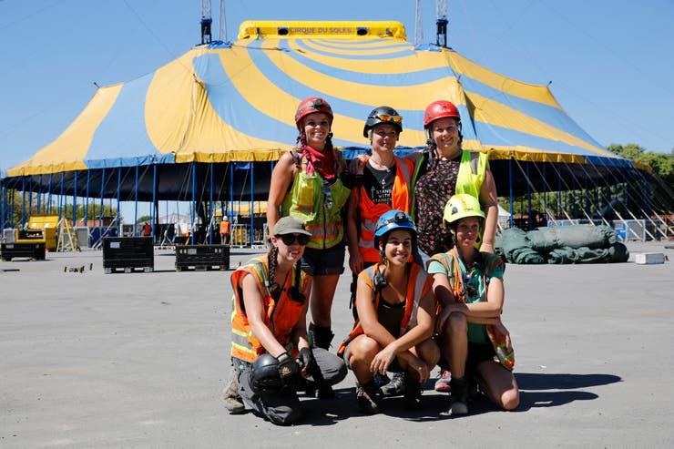 Así se montó la carpa del Cirque du Soleil en Costanera Sur