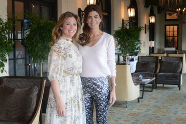 Juliana Awada and the first Canadian lady, Sophie Trudeau