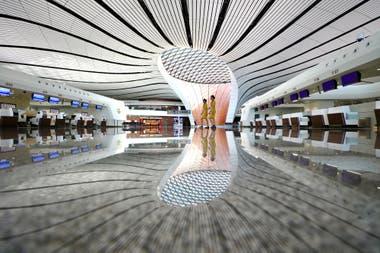 El nuevo aeropuerto internacional de Daxing, situado 46 km al sur de la capital