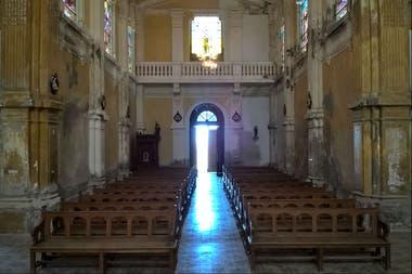 La iglesia está en muy mal estado por dentro