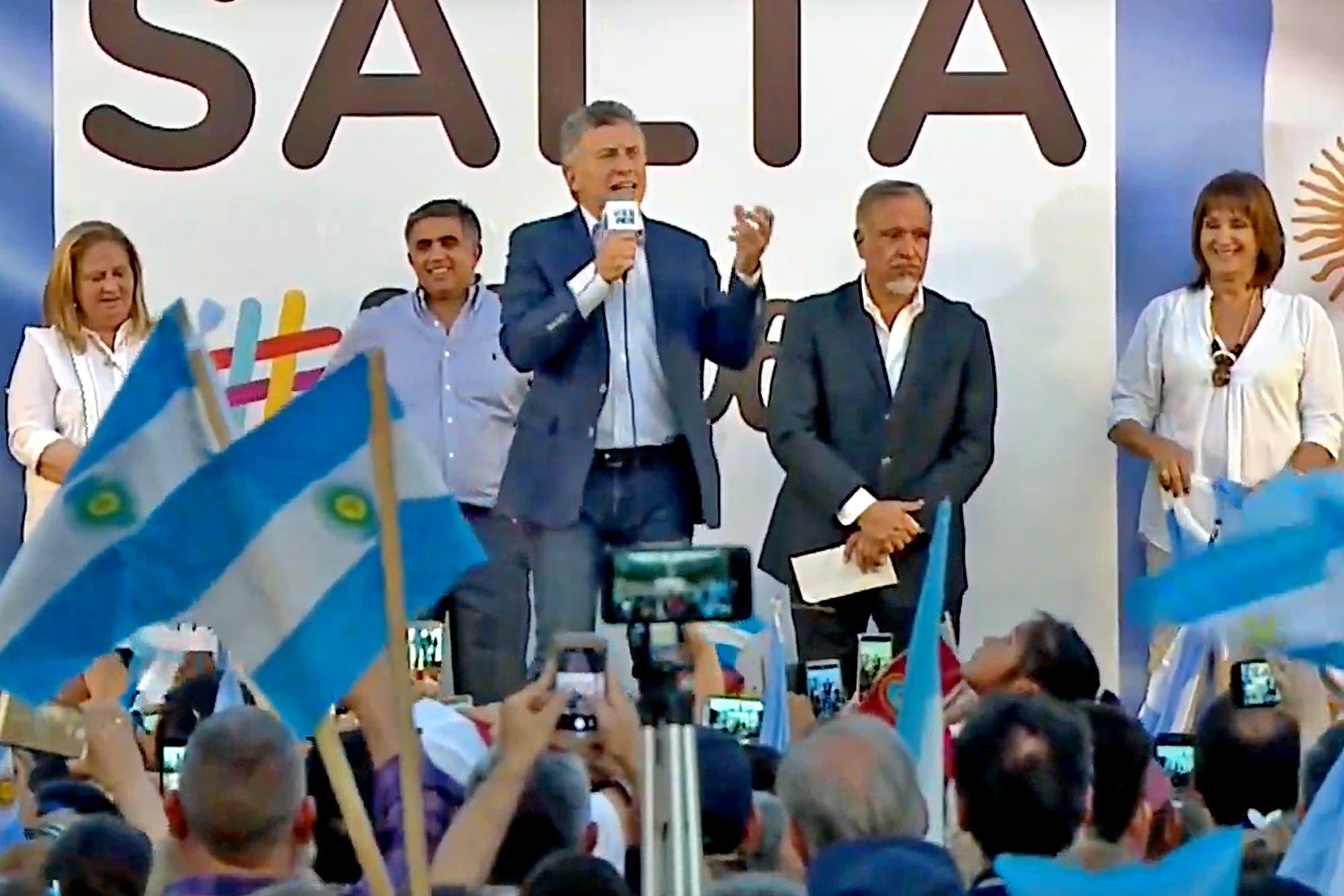 """En Salta, Mauricio Macri encabezó una nueva marcha Sí se puede: """"Este va a ser un octubre inolvidable"""""""
