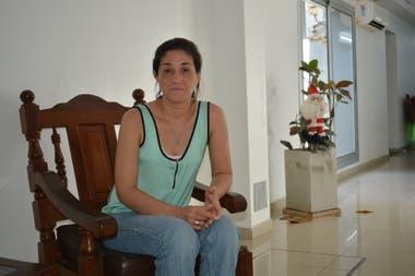 Cristina Vázquez, en enero pasado