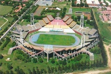 El estadio Mmabatho en Sudáfrica fue construido en 1981 con un diseño extremadamente raro