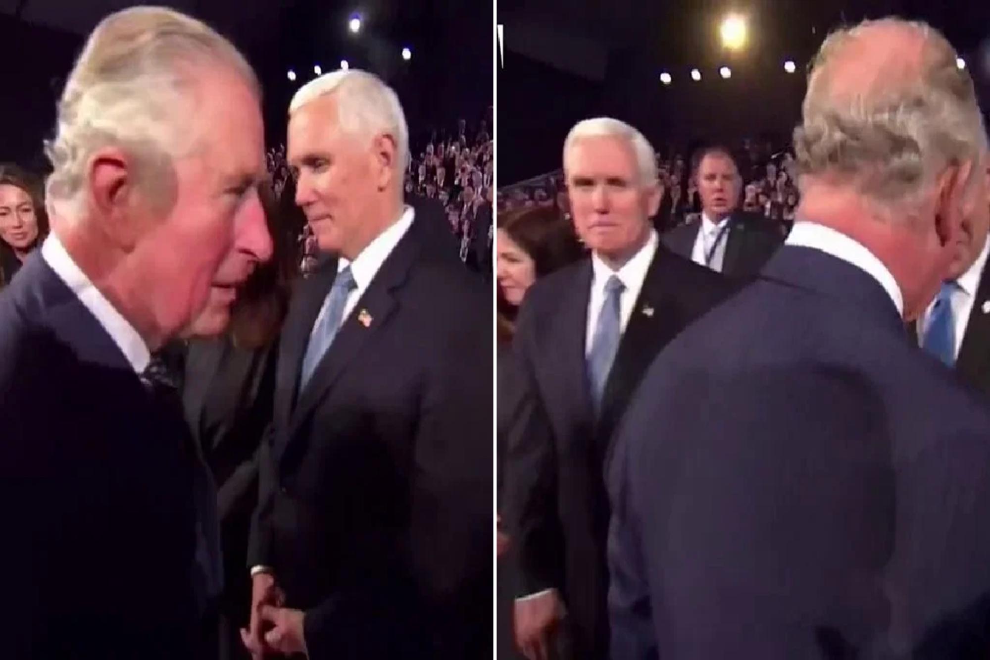 Jerusalén: el príncipe Carlos de Inglaterra no saludó a Mike Pence, vicepresidente de EE.UU.