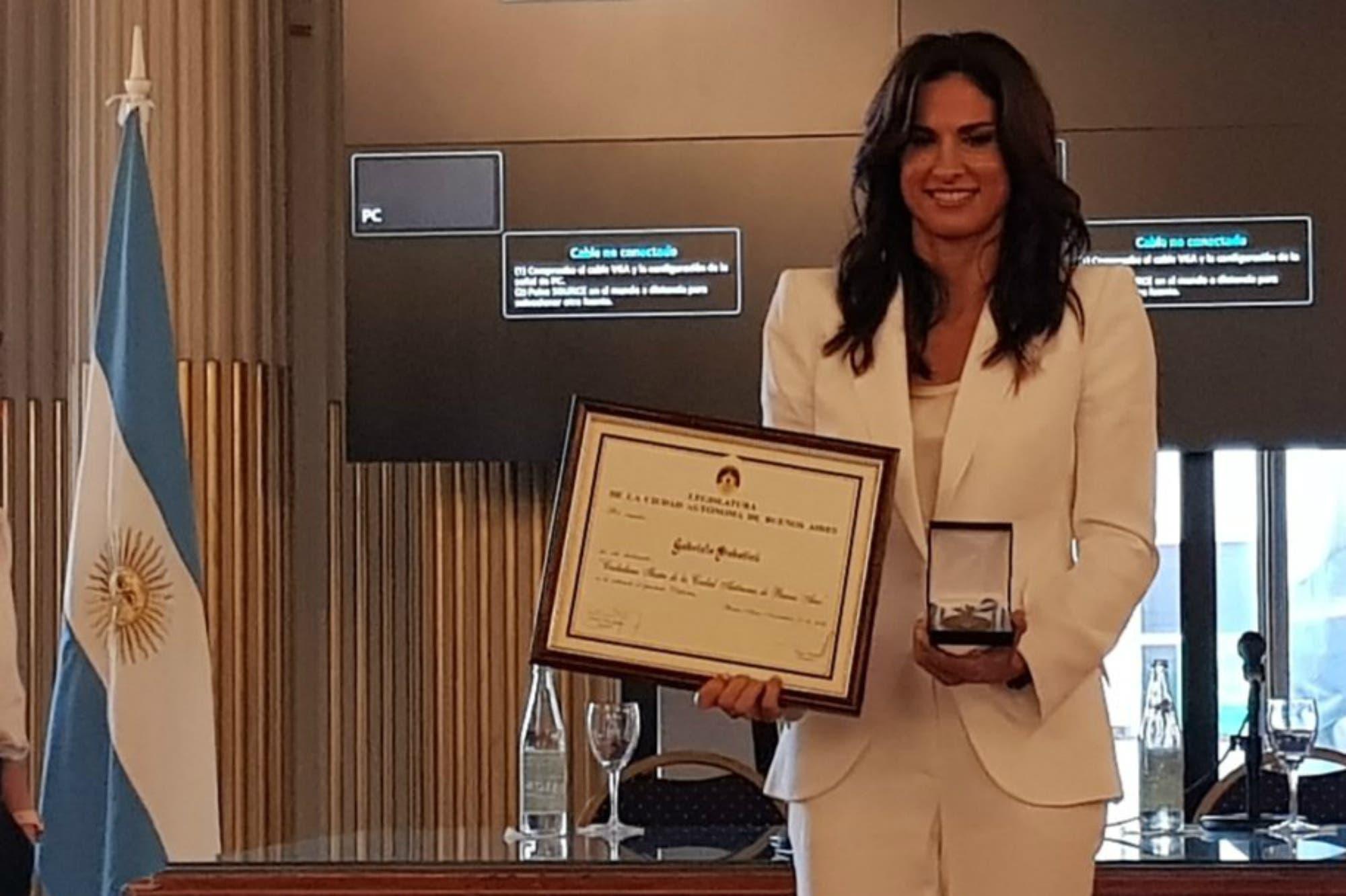 Ciudadana ilustre: Gaby Sabatini fue distinguida por la Legislatura de Buenos Aires