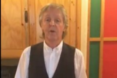 Paul McCartney, en su estudio