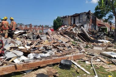 Varias casas explotaron en el barrio de Baltimore