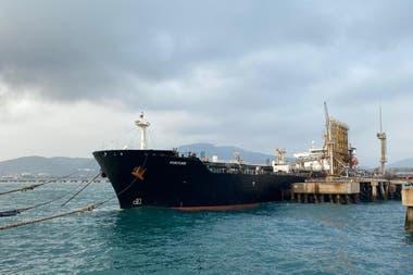 El petrolero iraní Fortune, cuando llegó a Venezuela en junio
