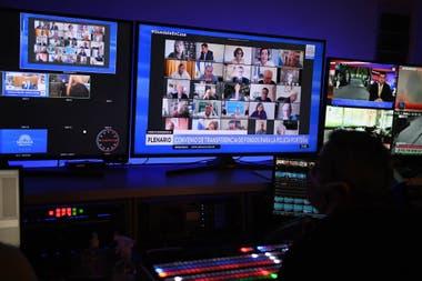 La reunión de la comisión se realizó de manera virtual (Archivo)