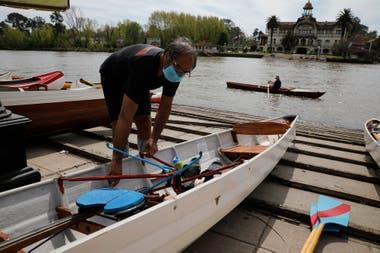En Tigre algunos deportes nauticos están habilitados