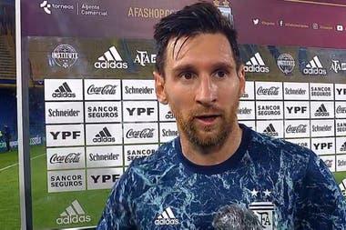 Messi destacó el valor de los primeros tres puntos