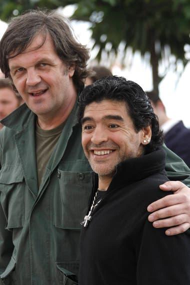 Junto al cineasta, Emir Kusturica, en el festival de Cannes