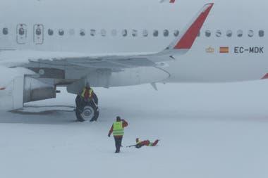 El aeropuerto de Barajas tuvo que suspender su actividad