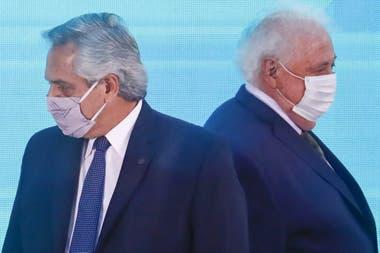 El presidente Alberto Fernández y Ginés González García, en otras épocas