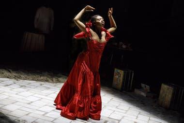 La talentosa Hailey Kilgore, en su debut en Broadway con Once on this island. Foto: Joan Marcus