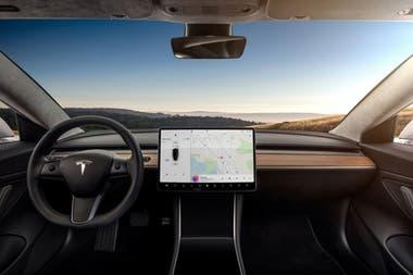 Así se ve el interior del Model 3, el auto de Tesla que estará equipado con una enorme pantalla táctil