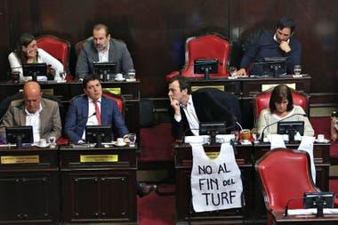 Sesión en el Senado de la Provincia de Buenos Aires por el tema de subsidios al turf