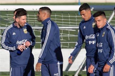 Messi, Mercado y dos nuevos: Matías Suárez y Domingo Blanco.