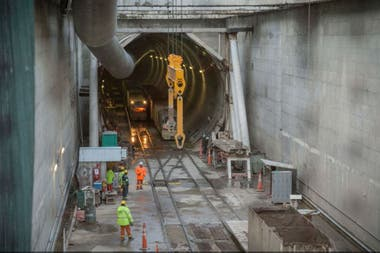 Obras del soterramiento del Tren Sarmiento