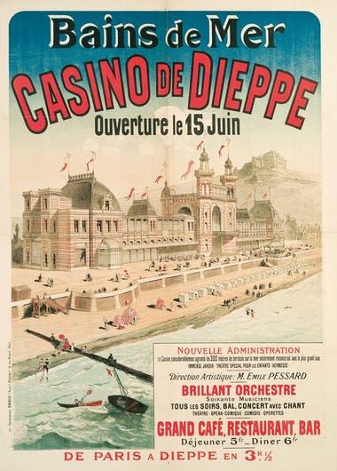 Baños de mar y casino de Dieppe, Francia. Sus torres inspiraron las del hotel de Cacheuta.