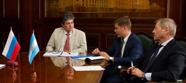 El secretario de Energía, Sergio Lanziani, recibió hoy a representantes de la empresa rusa Rosatom