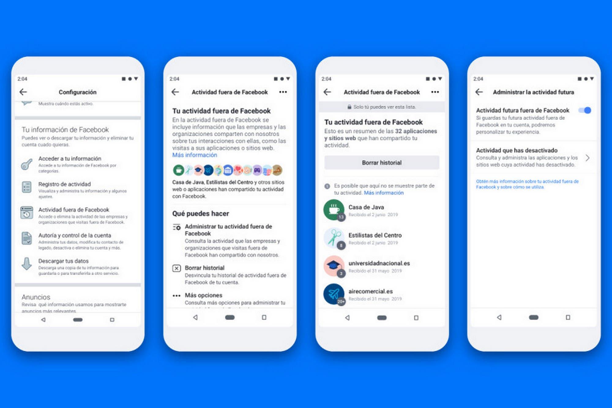 Facebook permitirá eliminar los datos de los usuarios recolectados por fuera de la red social