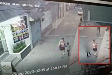 Cámaras de seguridad grabaron a la mujer que se llevó a Fátima