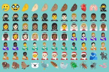 Una parte de los 117 nuevos emojis que se suman a Android 11, donde se destaca el gesto italiano de los dedos