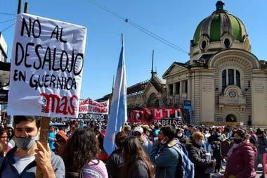 La movilización de este lunes en La Plata
