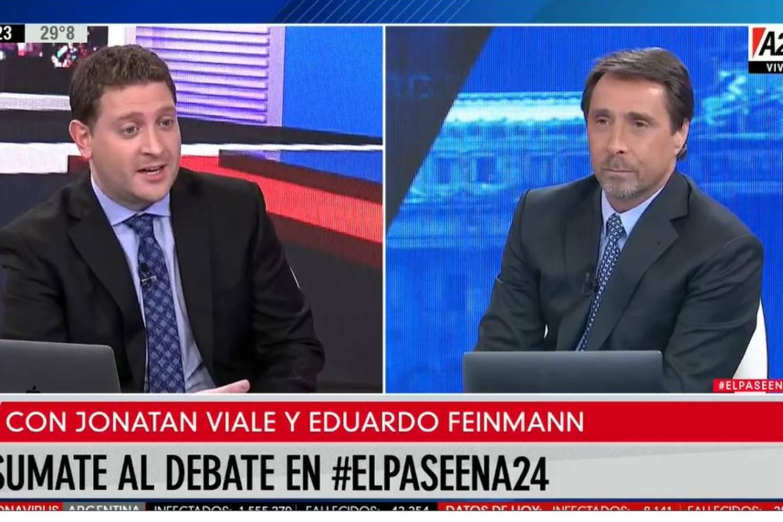 """""""Vamos a extrañar esta casa"""": cómo fue el último pase entre Jonatan Viale y Eduardo Feinmann en A24"""