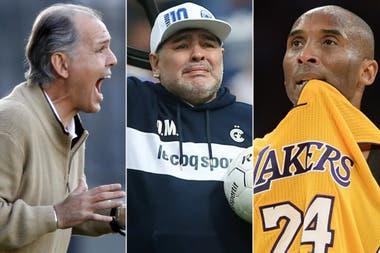 Alejandro Sabella, Diego Maradona y Kobe Bryant, tres de las figuras que fallecieron en 2020