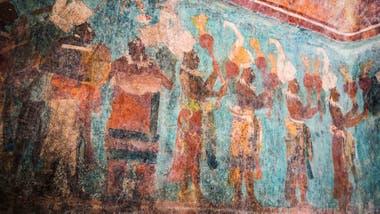 Uno de los murales - los mejores mantenidos del mundo maya - Bonampak, Chiapas.