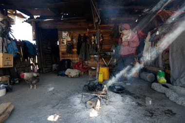Puesto principal de la RAM en Cushamen, donde estuvo Santiago Maldonado antes de su desaparición. Cushamen, Pcia. Chubut, Septiembre 2017. Foto: Ricardo Pristupluk
