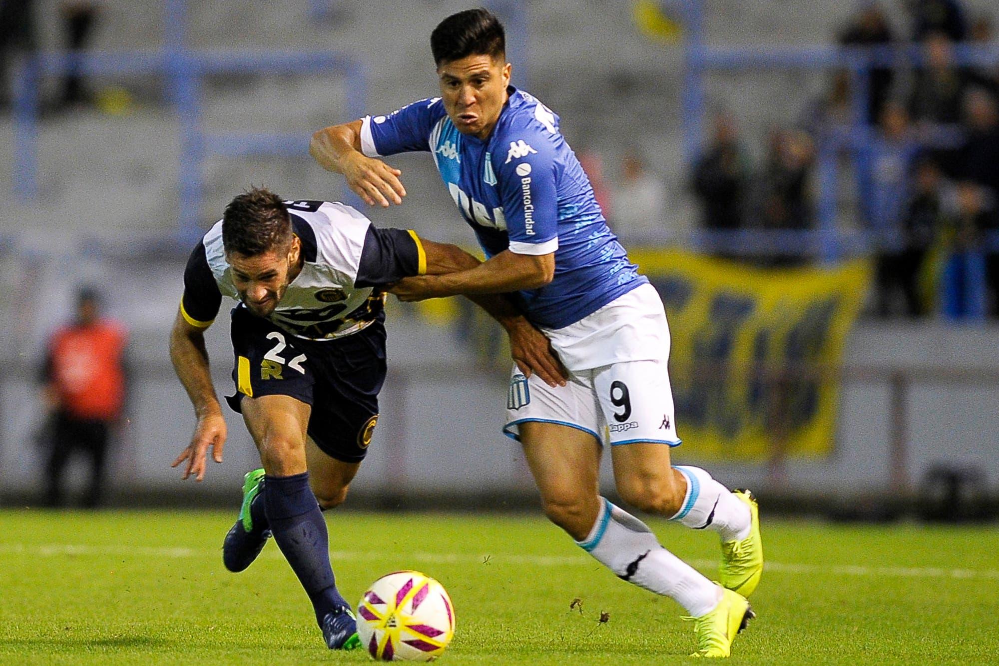 Otra imagen: Racing mejoró y derrotó a Rosario Central antes de reiniciar la Superliga