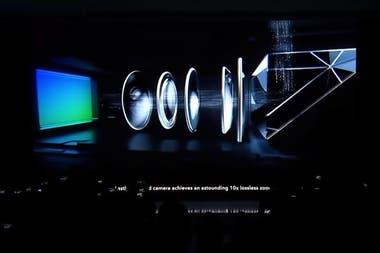 """En el diseño de Oppo, la luz entra del exterior por el prisma, lo que le permite """"torcer"""" la luz en un ángulo de 90 grados, pasar a través de las lentes y llegar al sensor, que se ubica en forma perpendicular al exterior del teléfono"""