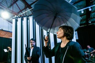 Un momento del ensayo previo al estreno de la ópera de Edelstein, en la Sala Cristal Sónico