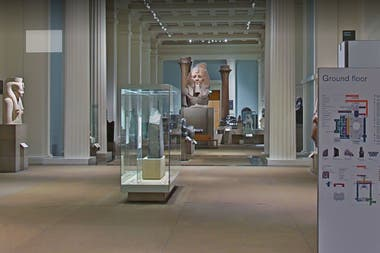 Vista del interior del British Museum desde la plataforma de Google
