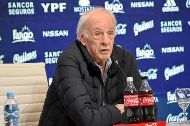 Cesar Luis Menotti durante la presentación de la lista de convocados para la Copa América 2019