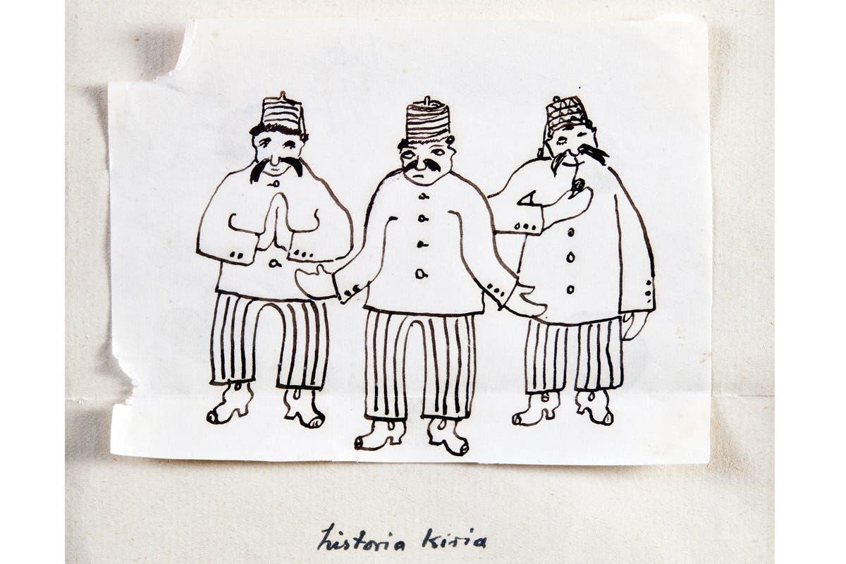 """Dibujo de sus últimos tiempos, realizado para ilustrar su novela """"Historia Kiria"""""""