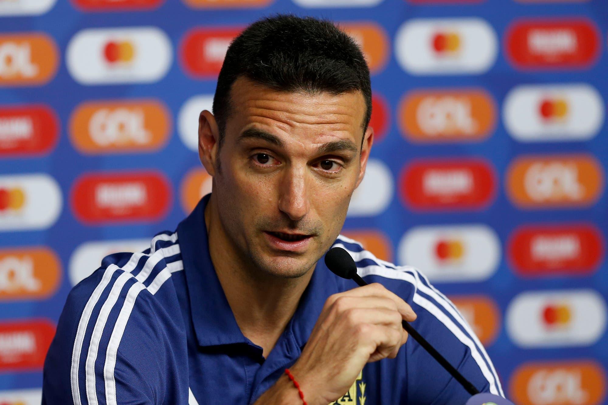 """Copa América: Scaloni cree que la Argentina está """"en el mejor momento para enfrentar al favorito Brasil"""""""