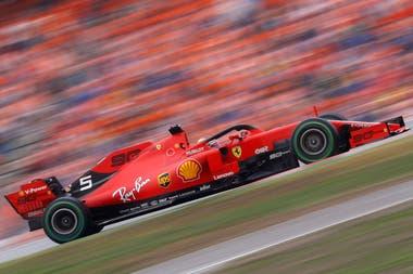 Vettel protagonizó una remontada impresionante en el Gran Premio de Alemania de la Fórmula 1 y terminó segundo.