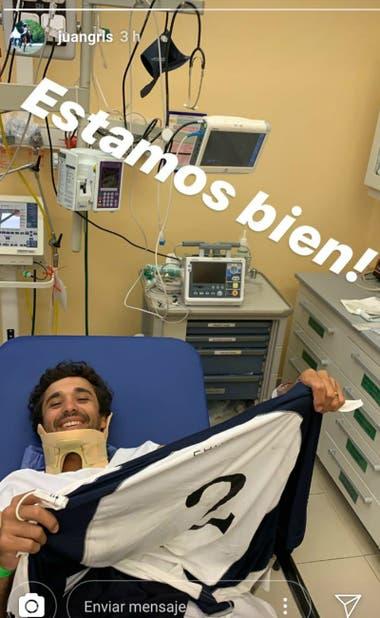 Juan Zavaleta (h.), desde su Instagram: la mejoría del jugador de La Ensenada