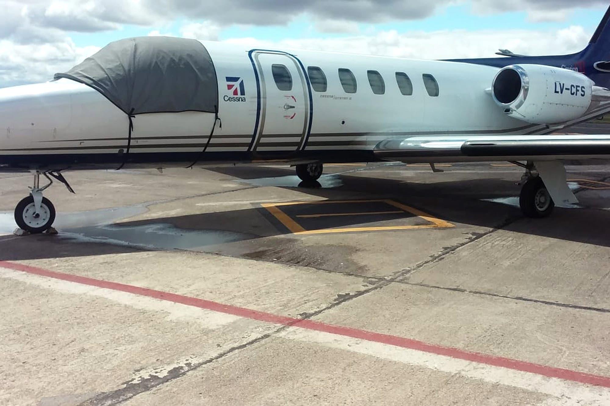 En fotos. Los aviones privados que utilizaron los invitados al Día de la Lealtad en La Pampa