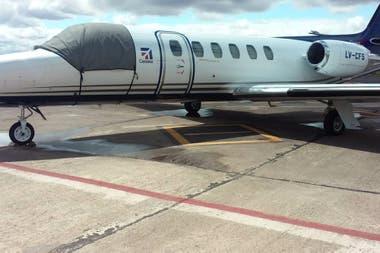 Aeronave matrícula LV-CFS de la firma Aviajet