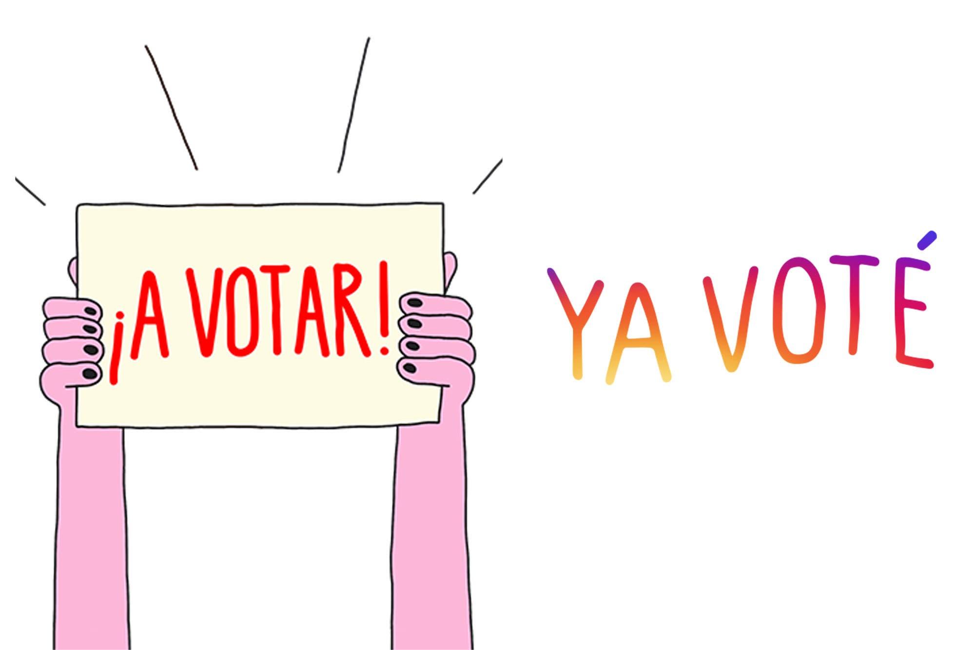 A votar y Ya voté, los nuevos stickers de Instagram para celebrar las elecciones nacionales de la Argentina