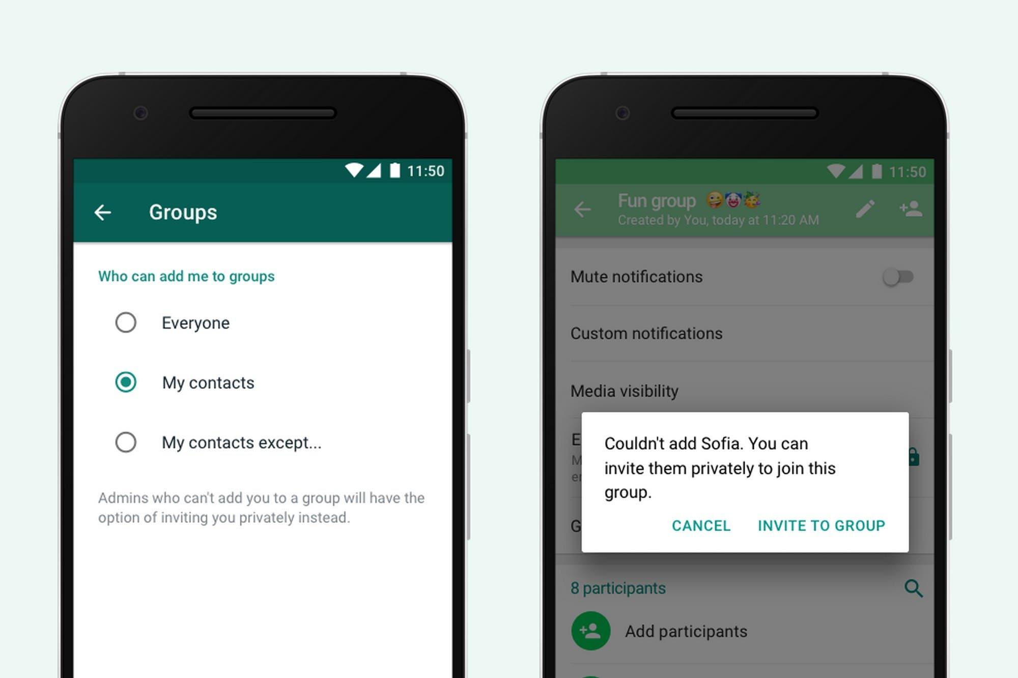 Ya es oficial: WhatsApp activó la función para evitar que te sumen a un grupo sin tu permiso