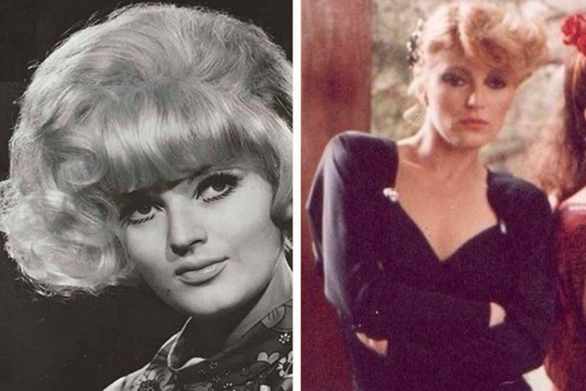 Elvia Andreoli, en los 70; y en los años 80, cuando fue su pleno apogeo