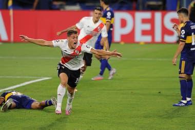 Federico Girotti tiene dos goles en la primera de River: uno fue en el 2-2 con Boca, en la Bombonera, por la Copa Diego Maradona